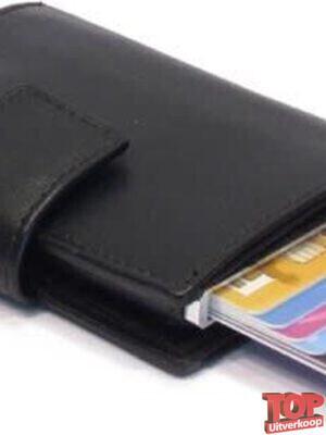 Figuretta Card Protector Pasjeshouder (Zwart Leer)