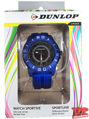 Dunlop Sport Quartz Horloge Diver (Blauw/zilver)