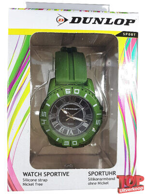 Dunlop Sport Quartz Horloge Diver (Groen/zilver)