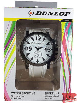 Dunlop Sport Quartz Horloge Racing (Wit/zwart)
