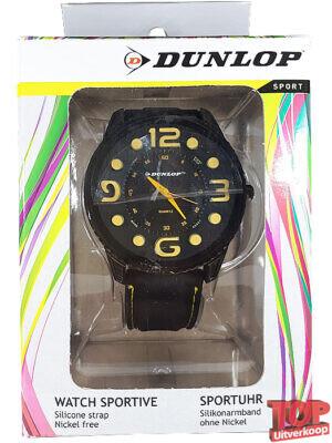 Dunlop Sport Quartz Horloge Tennis (Zwart/geel)