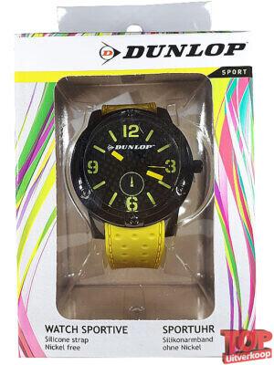 Dunlop Sport Quartz Horloge Tennis (Geel/zwart)