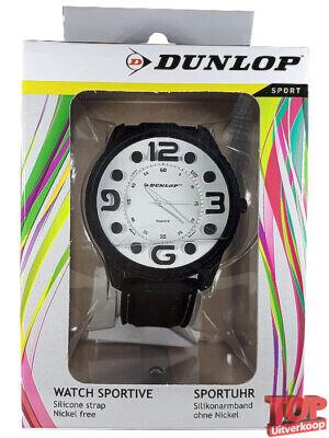 Dunlop Sport Quartz Horloge Tennis (Wit/zwart)