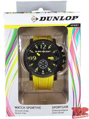 Dunlop Sport Quartz Horloge Racing (Geel)