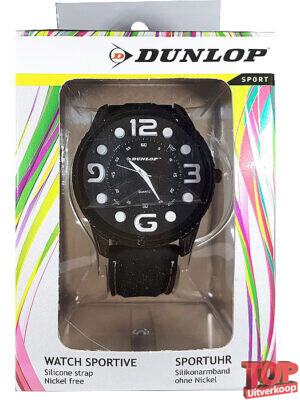 Dunlop Sport Quartz Horloge Tennis (Zwart/wit)