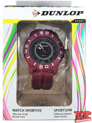 Dunlop Sport Quartz Horloge Diver (Rood)